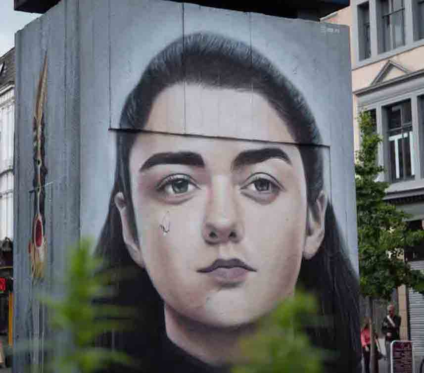 A poster of Arya Stark from A Game of Thrones