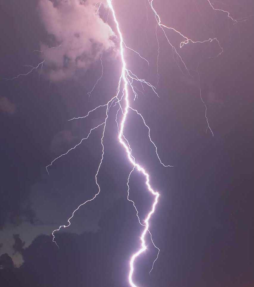 An image of lightning