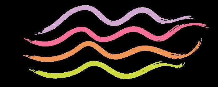 four stripes of paint