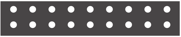perforated black bar