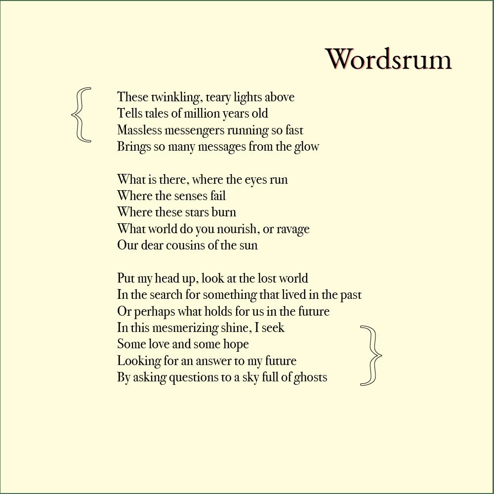 Appreciating stars poetry by wordsrum