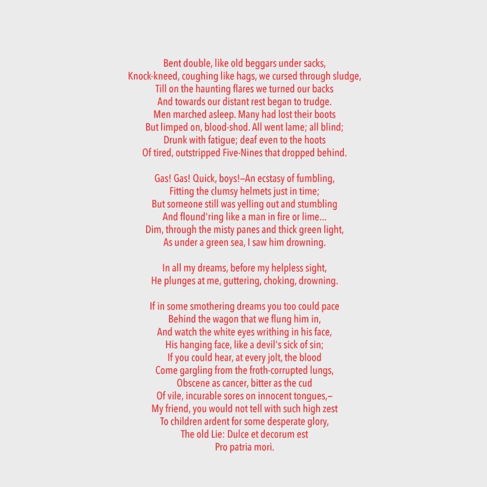 Dulce et decorum est poem