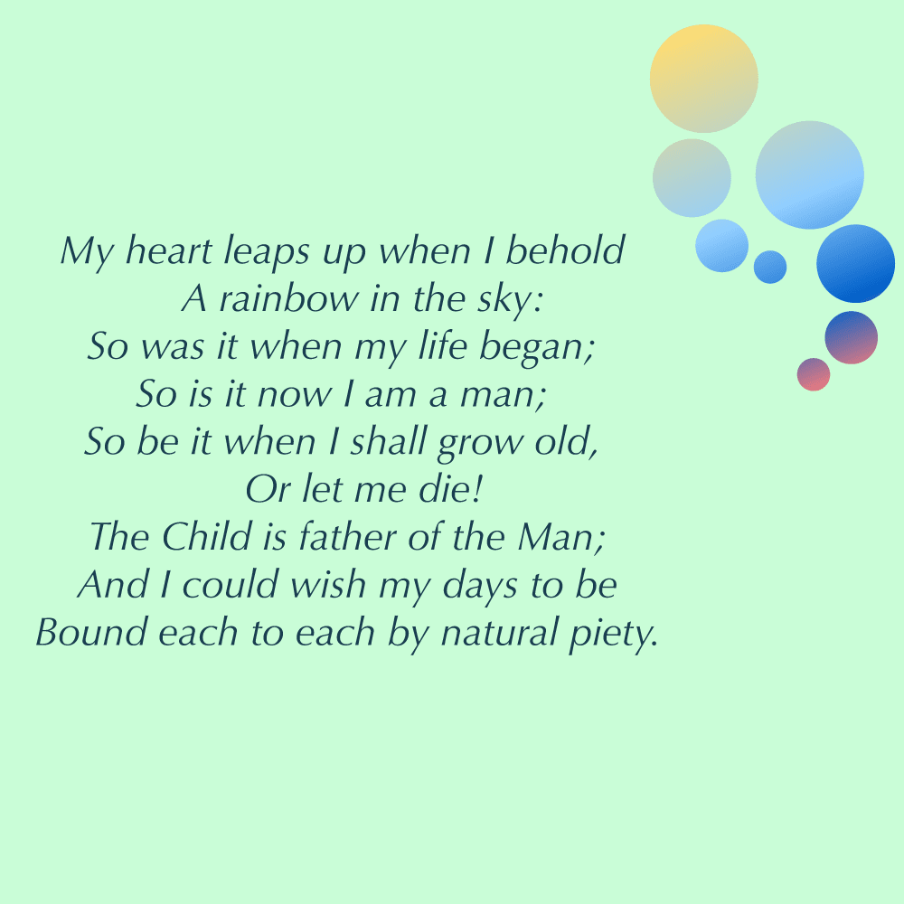 My heart leaps up poem