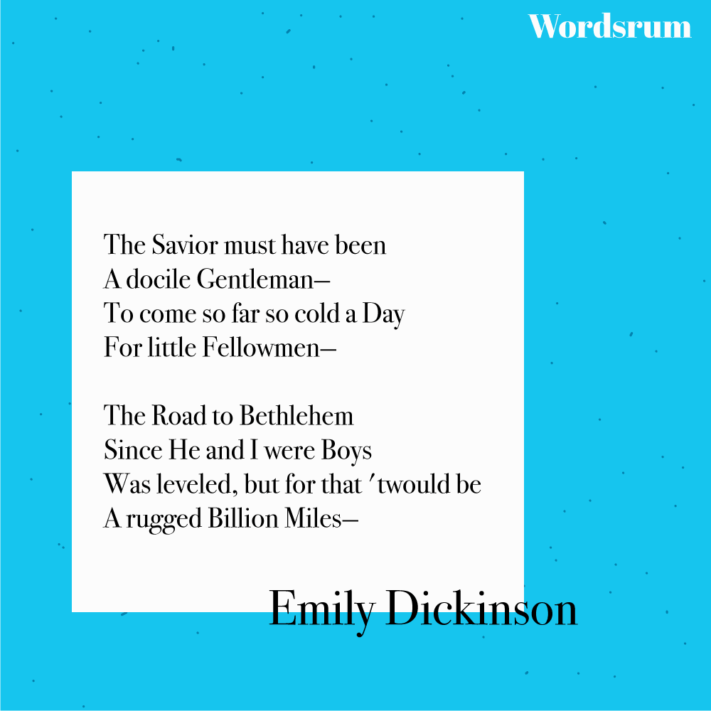 The savior must have been a docile gentleman poem by Emily Dickinson