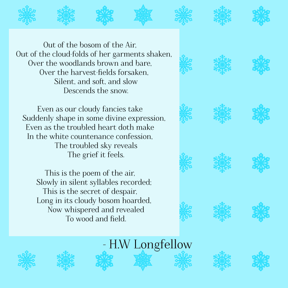 Snow-Flakes Poem by Longfellow