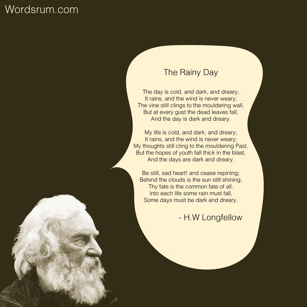 The Rainy Day poem by H.W Longfellow