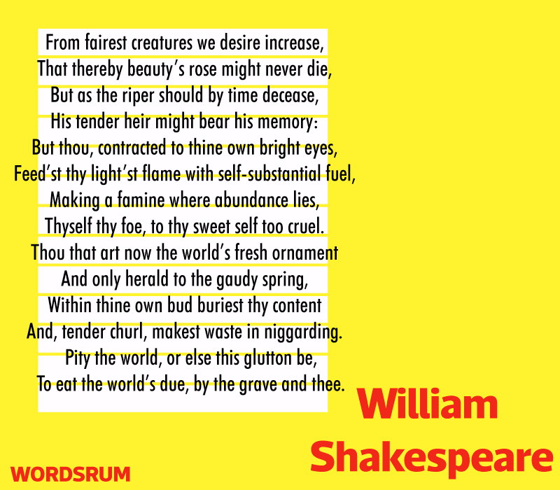 Sonnet 1 by Shakespeare