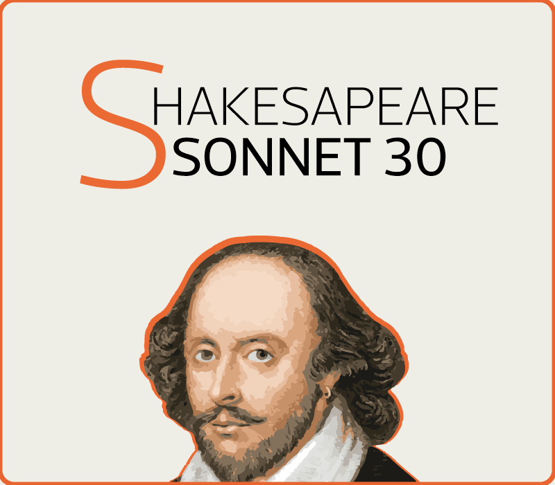 Sonnet 30 by Shakespeare cover image